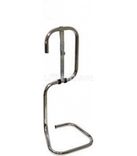 SINGLE CHROME PLATED STAND FOR FIRE EXTINGUISHER - UK