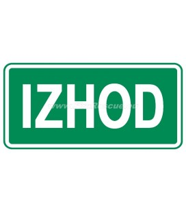 EVACUATION LABEL IZHOD