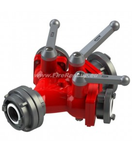TRIPLE WATER DISTRIBUTER A/BBB WITH BALL VALVES